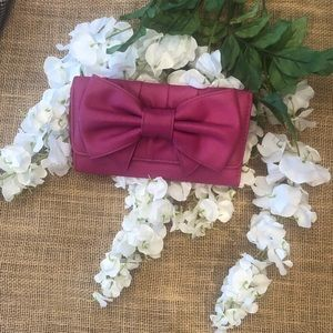 3 for $15 | Fuchsia Pink Bow Wallet